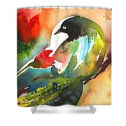 The Bird And The Flower 03 Shower Curtain