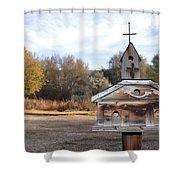 The Birdhouse Kingdom - American Kestrel Shower Curtain