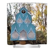 The Birdhouse Kingdom - Black-capped Chickadee Shower Curtain