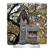 The Birdhouse Kingdom - Black-headed Grosbeak Shower Curtain