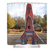 The Birdhouse Kingdom - Clark's Nutcracker Shower Curtain