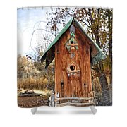 The Birdhouse Kingdom - Spotted Towhee Shower Curtain