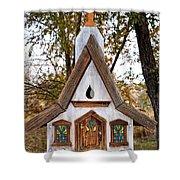 The Birdhouse Kingdom - Steller's Jay Shower Curtain