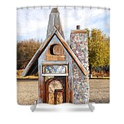 The Birdhouse Kingdom - The American Coot Shower Curtain
