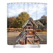 The Birdhouse Kingdom - The American Dipper Shower Curtain