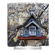 The Birdhouse Kingdom - The Cordilleran Flycatcher Shower Curtain