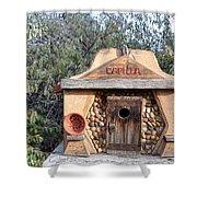 The Birdhouse Kingdom - The Evening Grosbeak Shower Curtain