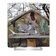 The Birdhouse Kingdom - The Geese A Swimming Shower Curtain