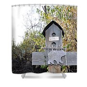 The Birdhouse Kingdom - The Loggerhead Shrike Shower Curtain