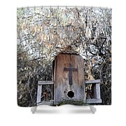 The Birdhouse Kingdom - The Olive-sided Flycatcher Shower Curtain