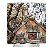 The Birdhouse Kingdom - The Purple Martin Shower Curtain