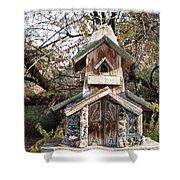 The Birdhouse Kingdom - The Red Crossbill Shower Curtain