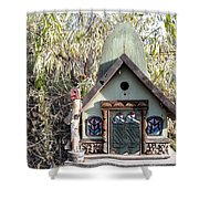 The Birdhouse Kingdom - The Western Tanager Shower Curtain