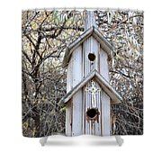The Birdhouse Kingdom - The Western Wood-pewkk Shower Curtain