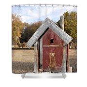 The Birdhouse Kingdom - Western Bluebird Shower Curtain