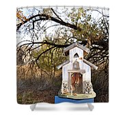 The Birdhouse Kingdom - Wilson's Warbler Shower Curtain