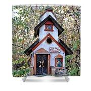 The Birdhouse Kingdom -the Pygmy Nuthatch Shower Curtain