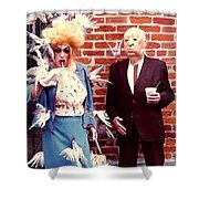 New Orleans The Birds And Alfred Hitchcock Mardi Gras Day In The French Quarter In Louisiana Shower Curtain