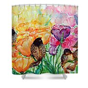The Birds Of Spring Shower Blessings On You Shower Curtain