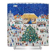 The Birth Of Christ Shower Curtain