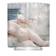 The Birth Of Venus Shower Curtain by Henri Gervex
