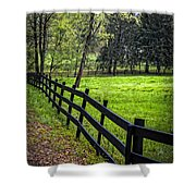 The Black Fence Shower Curtain
