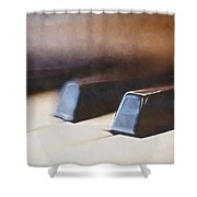 The Black Keys Shower Curtain by Scott Norris