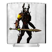 The Black Knight... Shower Curtain