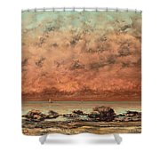 The Black Rocks At Trouville Shower Curtain