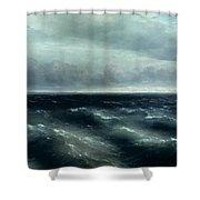 The Black Sea Shower Curtain