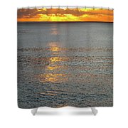 The Black Sea In A Swath Of Gold Shower Curtain