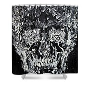 The Black Skull - Oil Portrait Shower Curtain