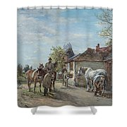 The Blacksmith Shower Curtain