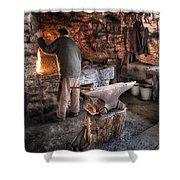 The Blacksmith Shower Curtain