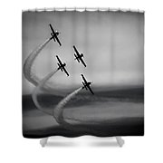 The Blades In Formation Sunderland Air Show 2014 Shower Curtain by Scott Lyons