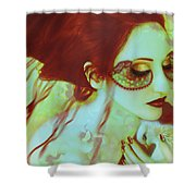 The Bleeding Dream - Self Portrait Shower Curtain