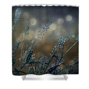 The Bling Of Blue Shower Curtain