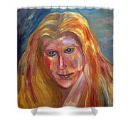 The Blonde Shower Curtain