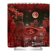 The Blood Moon Shower Curtain