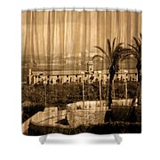 The Bloody Island Xviii Century Navy Hospital In Menorca Miniaturized Shower Curtain