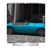The Blue Car Shower Curtain