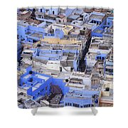 The Blue City Of Jodhpur In India Shower Curtain