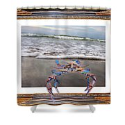 The Blue Crab Shower Curtain