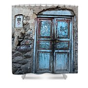 The Blue Door 1 Shower Curtain