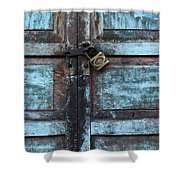 The Blue Door 2 Shower Curtain