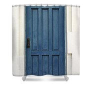The Blue Door Shower Curtain