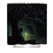 The Blue Grotto Shower Curtain by Albert Bierstadt