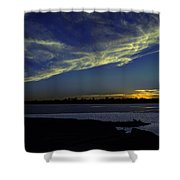 The Blue Hour Sunset Shower Curtain