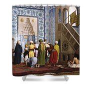 The Blue Mosque Shower Curtain by Jean Leon Gerome