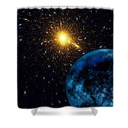 The Blue Planet Shower Curtain